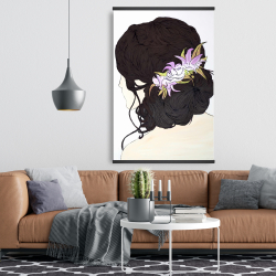 Magnetic 28 x 42 - Woman from behind with pink flowers