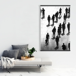 Magnetic 28 x 42 - Silhouettes of people on the street