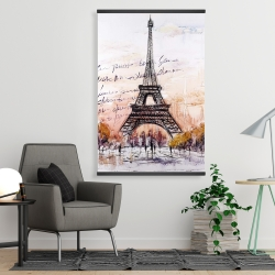 Magnetic 28 x 42 - Eiffel tower sketch with an handwritten message