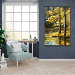 Magnetic 28 x 42 - Fall landscape by the water