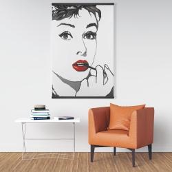 Magnetic 28 x 42 - Audrey hepburn outline style