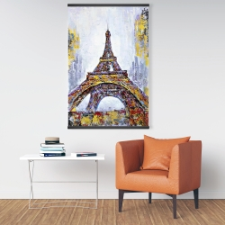Magnetic 28 x 42 - Abstract paint splash eiffel tower