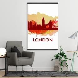 Magnetic 28 x 42 - Paint splash silhouette of london