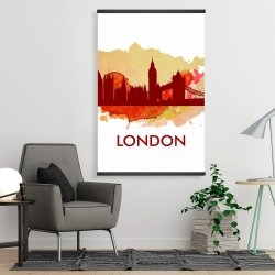 Magnetic 28 x 42 - Paint splash silhouette of london