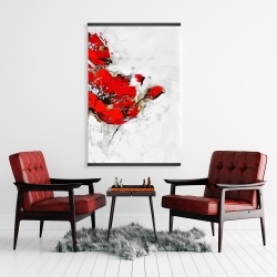 Magnetic 28 x 42 - Abstract red flowers with texture