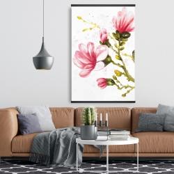 Magnetic 28 x 42 - Watercolor magnolia flowers