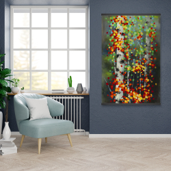 Magnetic 28 x 42 - Colorful dotted leaves birches