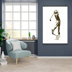 Magnetic 28 x 42 - Illustration of a golfer