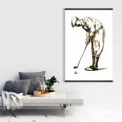 Magnetic 28 x 42 - Illustration of a concentrated golfer