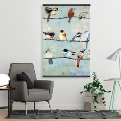 Magnetic 28 x 42 - Small colorful birds