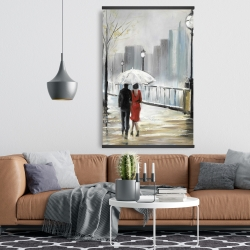 Magnetic 28 x 42 - Couple walking under the rain