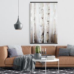 Magnetic 28 x 42 - Abstract white birches