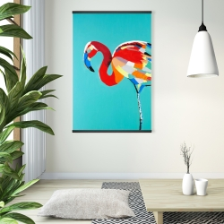 Magnetic 28 x 42 - Abstract flamingo