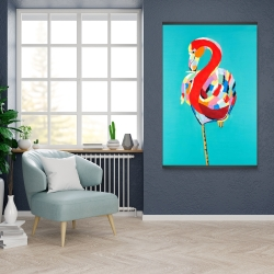 Magnetic 28 x 42 - Colorful flamingo