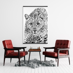 Magnetic 28 x 42 - Leopard ready to attack
