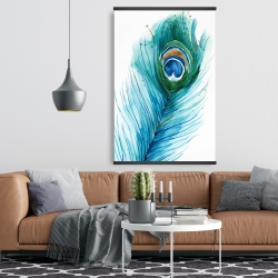 Magnetic 28 x 42 - Long peacock feather
