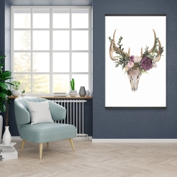 Magnetic 28 x 42 - Deer skull with flowers