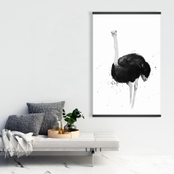 Magnetic 28 x 42 - Ostrich in watercolor