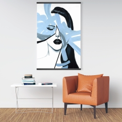 Magnetic 28 x 42 - Abstract blue woman portrait