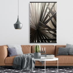 Magnétique 28 x 42 - Plantes tropicales en tons de gris