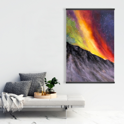 Magnetic 28 x 42 - Aurora borealis in the mountain