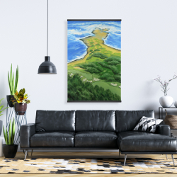 Magnetic 28 x 42 - Island overhead view with waves