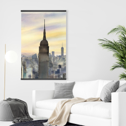 Magnetic 28 x 42 - Sunset over new york city