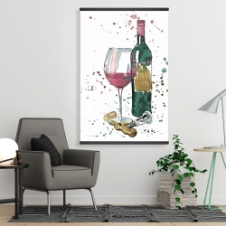 Magnetic 28 x 42 - Bottle of red wine