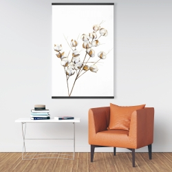 Magnetic 28 x 42 - A branch of cotton flowers