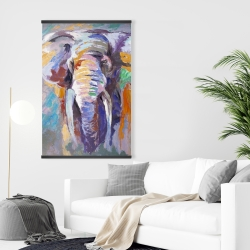 Magnetic 28 x 42 - Elephant in pastel color