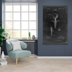 Magnetic 28 x 42 - Black blueprint of golf tee