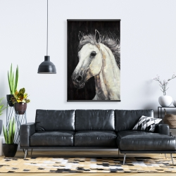 Magnetic 28 x 42 - White star horse
