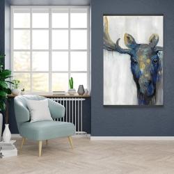 Magnetic 28 x 42 - Blue moose