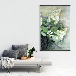 Magnetic 28 x 42 - White lilacs