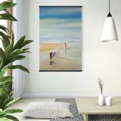 Magnetic 28 x 42 - Children at the beach