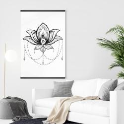 Magnetic 28 x 42 - Ethnic lotus ornament