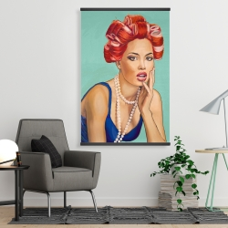 Magnetic 28 x 42 - Pin up girl with curlers