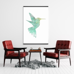 Magnetic 28 x 42 - Geometric hummingbird