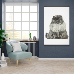 Magnetic 28 x 42 - Blue gray persian cat