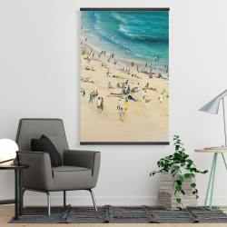 Magnetic 28 x 42 - Summer crowd at the beach