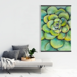 Magnetic 28 x 42 - Watercolor succulent plant