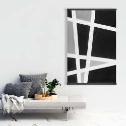 Magnetic 28 x 42 - Black and white abstract lines