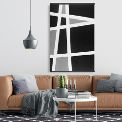 Magnetic 28 x 42 - Black and white abstract shapes