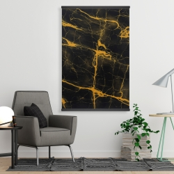 Magnetic 28 x 42 - Black and gold marble texture