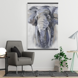 Magnetic 28 x 42 - Pastel blue elephant