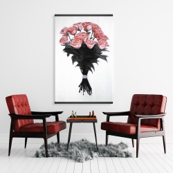 Magnetic 28 x 42 - Bouquet of coral roses