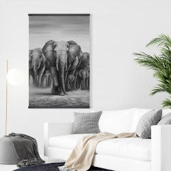 Magnetic 28 x 42 - Herd of elephants