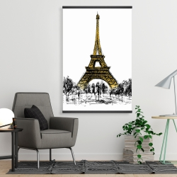 Magnetic 28 x 42 - Outline of eiffel tour