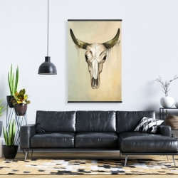 Magnetic 28 x 42 - Color fading bull skull