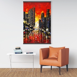 Magnetic 28 x 42 - Abstract sunset on the city